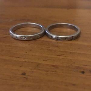 Two stackable silver rings